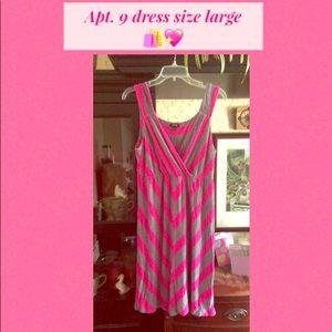 Cute classy &sassy Apt. 9 size Large pink dress.
